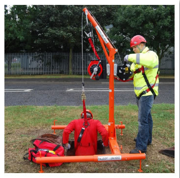 Image of a man using a Uni-Hoist.